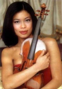 Vanessa-Mae and her Guadagnini violin