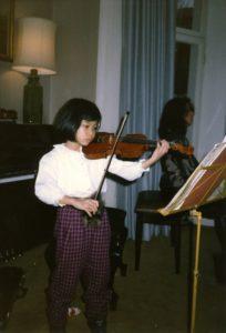 Vanessa-Mae practices