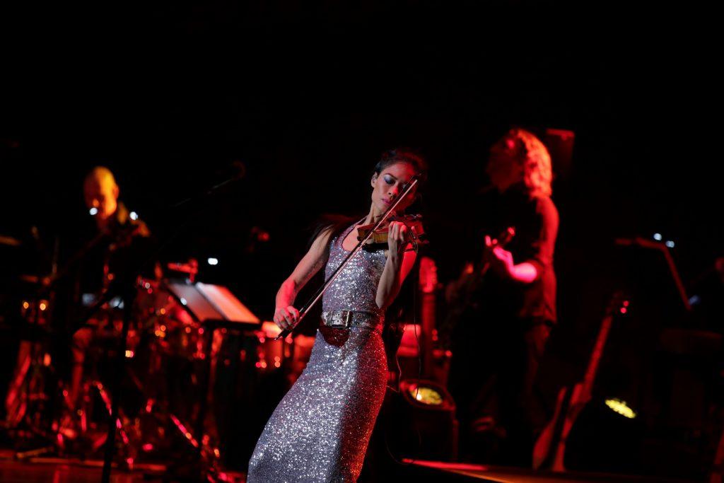 Vanessa-Mae performs at Ohrid Summer Festival