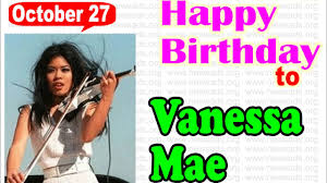 Happy Birthday Vanessa-Mae